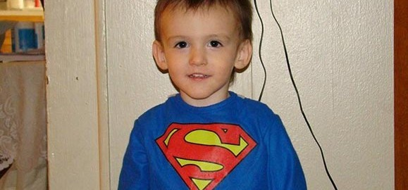 Superman as a 3yr old
