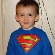 Superman as a 3yr old